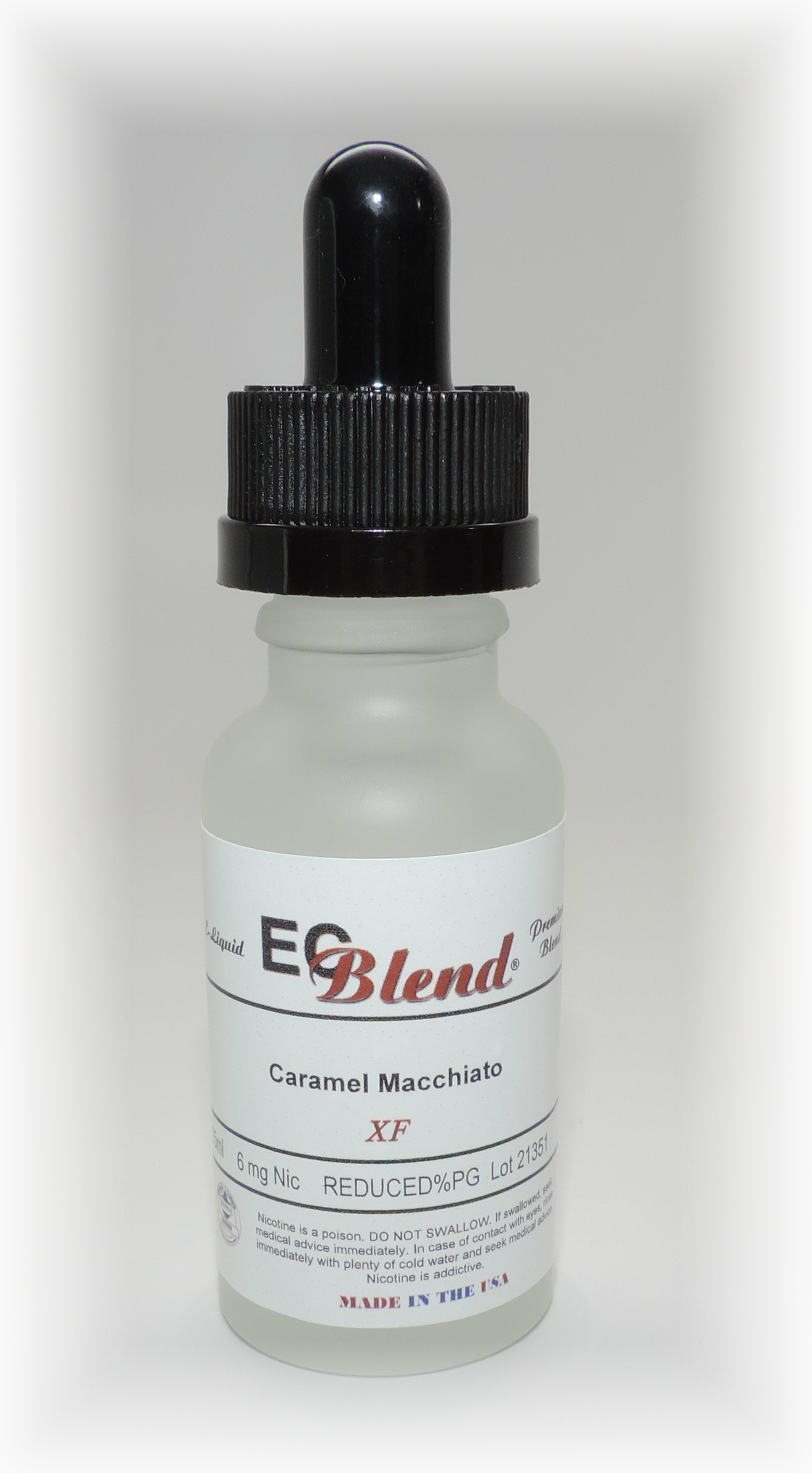 ECBlend ELiquid Flavors in Frosted Glass Bottles