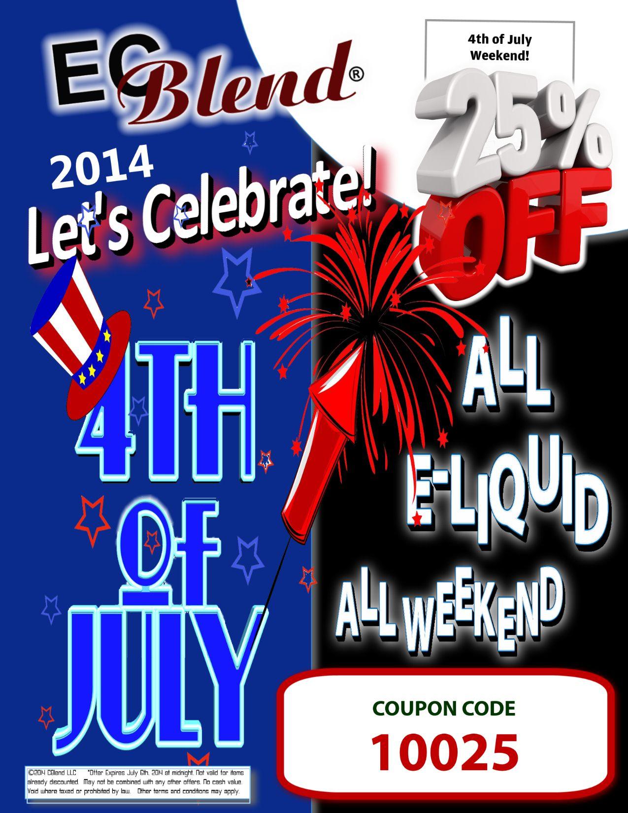 ECBlend ELiquid 4th of July Sale